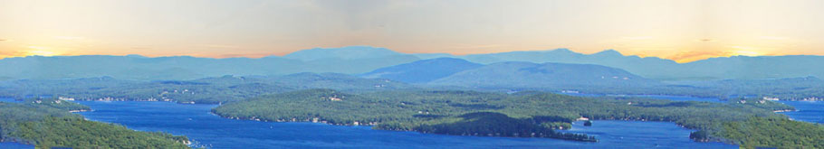 Lake Winnipesaukee and the surrounding mountains