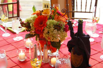 A fancy table setting for a wedding at The Summit Resort